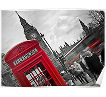 Telephone Booth in London Poster