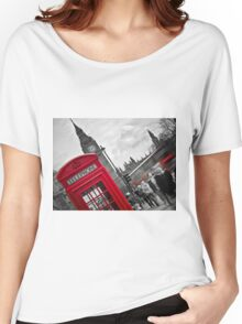 Telephone Booth in London Women's Relaxed Fit T-Shirt