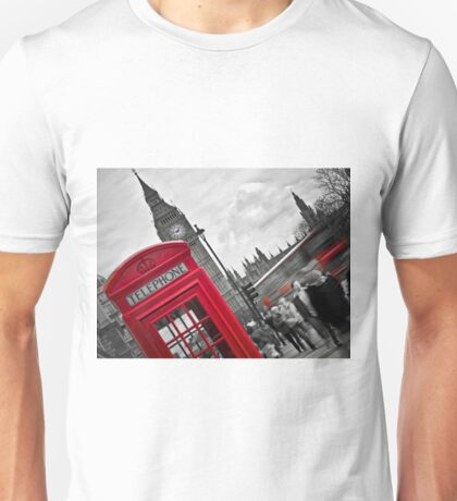 Telephone Booth in London Unisex T-Shirt