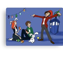 The Doctor is Late: Happy Holiday Greetings! Canvas Print