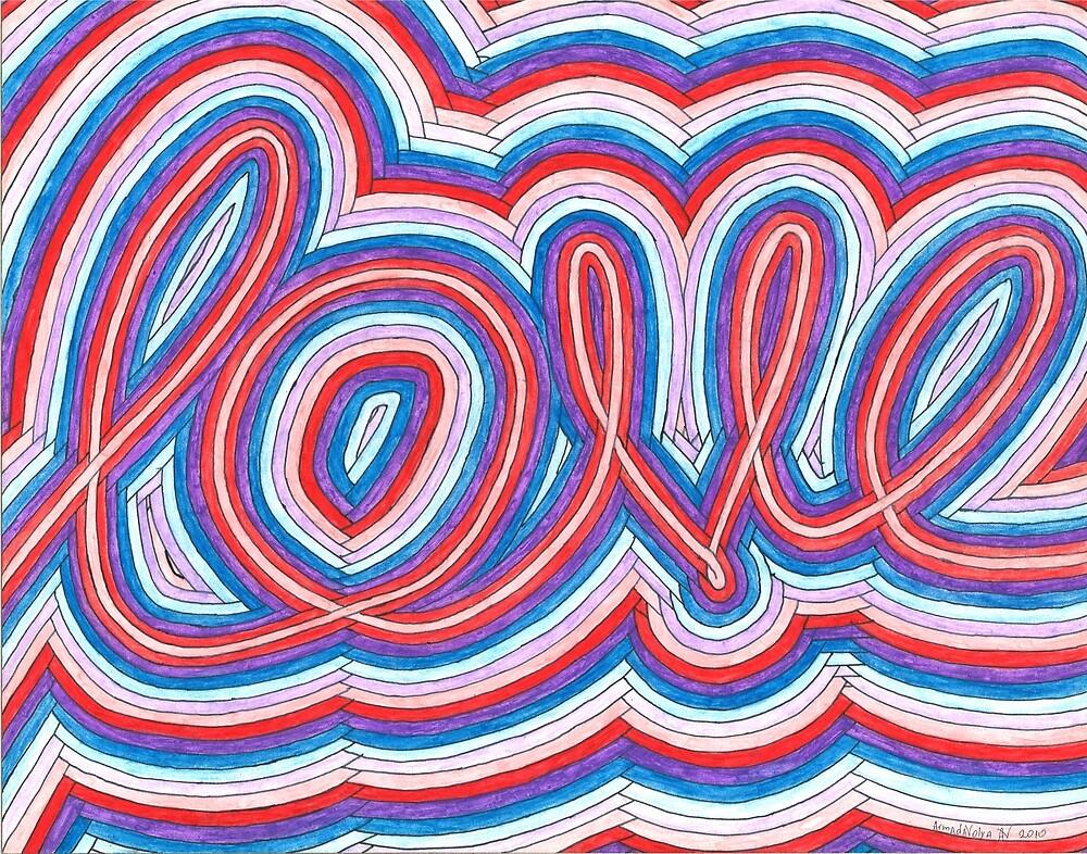 Love, Abstract Painting by ArmadaVolya