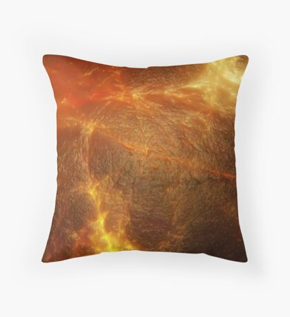volcanic magma Throw Pillow