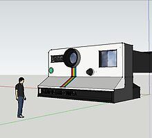 3-D model of a Polaroid Land Camera! by Andrew Lapierre