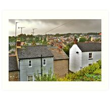 Rain On The Rooftops Of Richmond Art Print