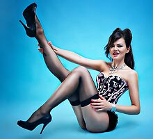 """Attitude"" Pin up Girl  by Laura Balc Photographer"