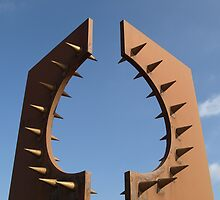 Rusty spikes by Tony Worrall