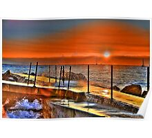 Inlet Sunrise at the Pumphouse Poster