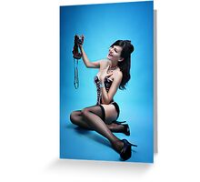 """Say Cheese"" Pin up Girl  Greeting Card"