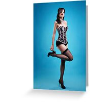 """Strike a pose"" Pin up Girl  Greeting Card"