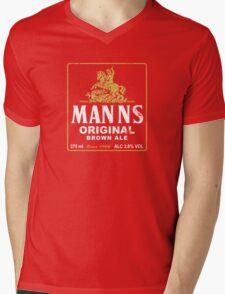 Mann's Brown Ale Mens V-Neck T-Shirt