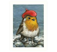Master robin at the seashore Art Print