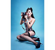 """Freeze"" Pin up Girl  Photographic Print"
