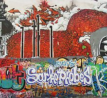 Sarkophobes - red wall 2 by Carol Dumousseau