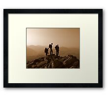 In the footsteps of others Framed Print