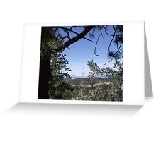 Distant View from the Road to Cripple Creek Greeting Card