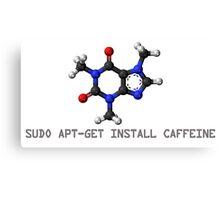 Coffee - Get Install Caffeine Canvas Print
