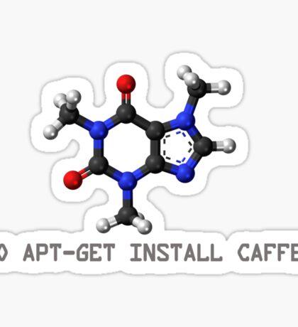 Coffee - Get Install Caffeine Sticker