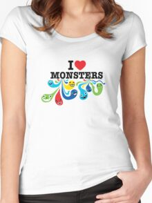 I Heart Monsters Women's Fitted Scoop T-Shirt