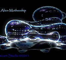 ALIEN MOTHERSHIP 3D by pixwizart