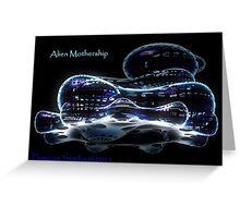 ALIEN MOTHERSHIP 3D Greeting Card
