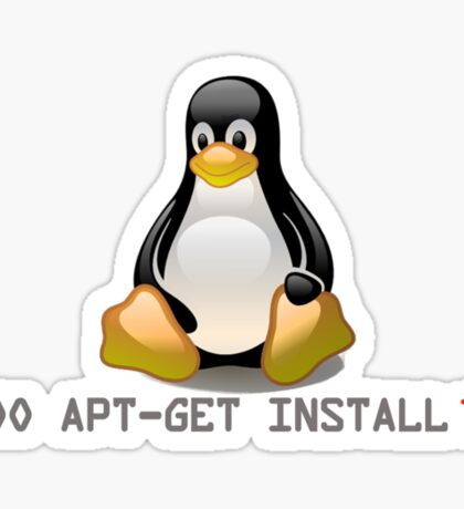 Linux - Get Install Tea Sticker
