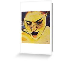yellow paint Greeting Card