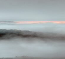 Misty Morn - Merlin's Lookout -Hill End,NSW, Australia (36 Exposure HDR Panorama) - The HDR Experience by Philip Johnson