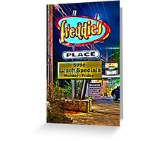 Freddie's Place Greeting Card