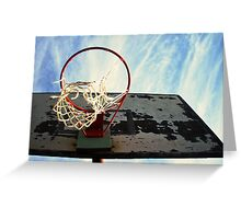 Dreaming High - Basketball challenge Greeting Card