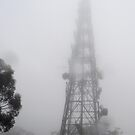 Tower in the  mist by waxyfrog