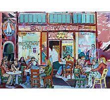 Bridgeway Cafe Photographic Print
