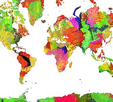 World Map 6 by Marlene Watson