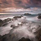 McKenzies Beach sunrise. by DaveBassett