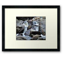 Boulder Cascades Framed Print