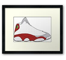 "Air Jordan XIII (13) ""Grey Toe"" Framed Print"