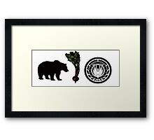 Bears, Beets, Battlestar Galactica Framed Print