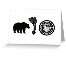 Bears, Beets, Battlestar Galactica Greeting Card