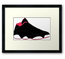 "Air Jordan XIII (13) Low ""Bred"" Framed Print"