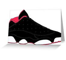 """Air Jordan XIII (13) Low """"Bred"""" Greeting Card"""