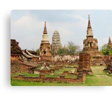 Ayutthaya Temples Canvas Print