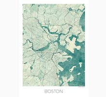 Boston Map Blue Vintage Unisex T-Shirt