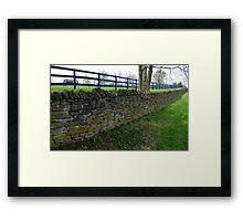 Stone Ribbon Framed Print