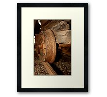 Gold Mining trolley - HILL END NSW Framed Print