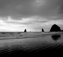 Haystack Rock and the Needles ... by Patricia  Butler