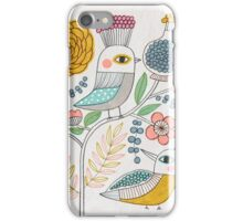 Folk Birds and Flowers iPhone Case/Skin