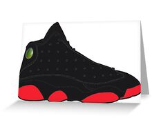 "Air Jordan XIII (13) ""Dirty Bred"" Greeting Card"