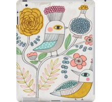 Folk Birds and Flowers iPad Case/Skin