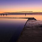 Sunrise at Edithburgh Tidal pool, South Australia by burrster