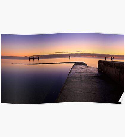 Sunrise at Edithburgh Tidal pool, South Australia Poster