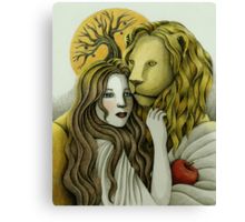 By Sunset - The Lady and the Lion Canvas Print
